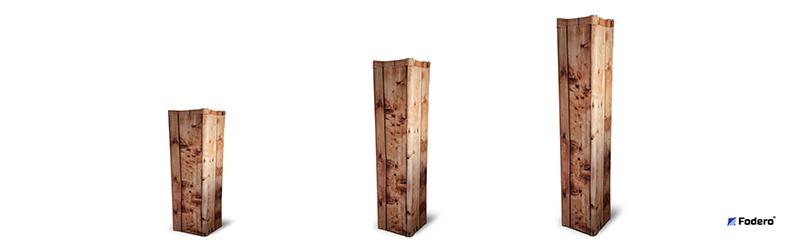 Osłony na kratownice trisystem quadrosystem fodero rustykalne drewno