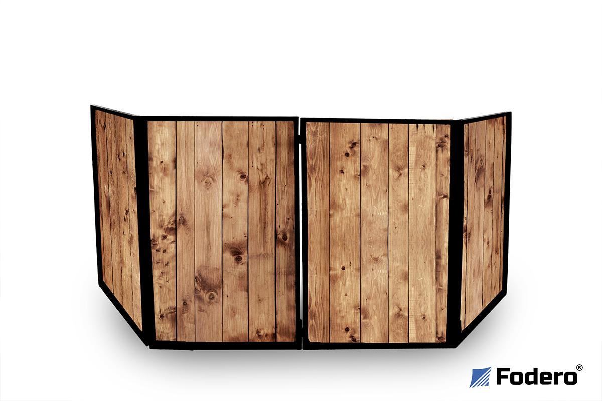 Ekran do parawanu drewniany drewniane stanowisko dj