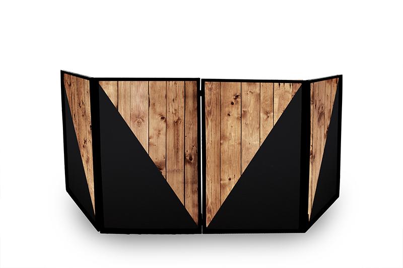 fodero rustic wood stanowisko dj rustykalne drewniane
